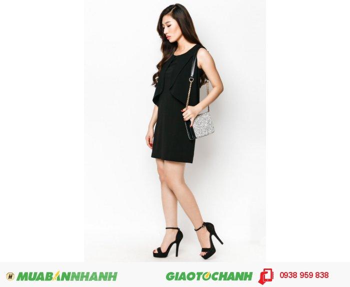 Đầm suôn bèo trước| Mã: AD230-đen | Giá: 498000 Quy cách: 84-66-90 (+-2): chiều dài tb: 85cm - 90cm | chất liệu: thun 4 chiều | Size (S - M - L - XL) | Mô tả: Hãy phối thêm phụ kiện để làm nổi bật chiếc váy đen suông thanh lịch này nhé!, 3