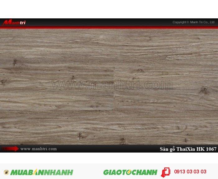 Sàn gỗ công nghiệp Thaixin MF1067 (bản nhỏ), dày 8.3mm, chống cháy chồng trầy, chịu nước | Qui cách: 1205 x 192 x 8.3 mm | Chống trầy: AC4 | Ứng dụng: Thi công lắp đặt làm sàn gỗ nội thất trong nhà, phòng khách, phòng ngủ, phòng ăn, showroom, trung tâm thương mại, shopping, sàn thi đấu. Giá bán: 229.000VND, 1
