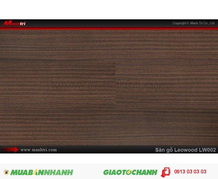 Sàn gỗ công nghiệp Leowood LW002, dày 8mm, chống mài mòn, độ bền cao | Kích thước (L x W x H): 1218mm x 195mm x 8mm | Trọng lượng: 10.00kg | Ứng dụng: Sàn gỗ Leowood được sử dụng nhiều trong các công trình nhà ở dân dụng như: nhà phố, biệt thự, khu đô thị, chung cư cao cấp.... cho đến các nhà hàng, khách sạn, các khu resort nghĩ dưỡng.....Giá bán: 230.000VND, 4