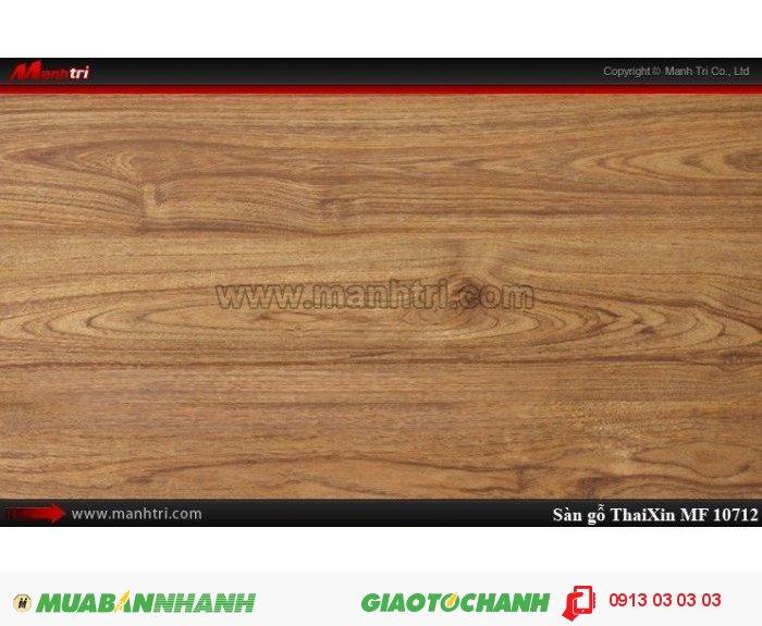 Sàn gỗ công nghiệp Thaixin MF10712, dày 8.3mm, chống cháy chồng trầy, chịu nước | Qui cách: 1205 x 192 x 8,3 mm | Chống trầy: AC4 | Ứng dụng: Thi công lắp đặt làm sàn gỗ nội thất trong nhà, phòng khách, phòng ngủ, phòng ăn, showroom, trung tâm thương mại, shopping, sàn thi đấu. Giá bán: 229.000VND, 5