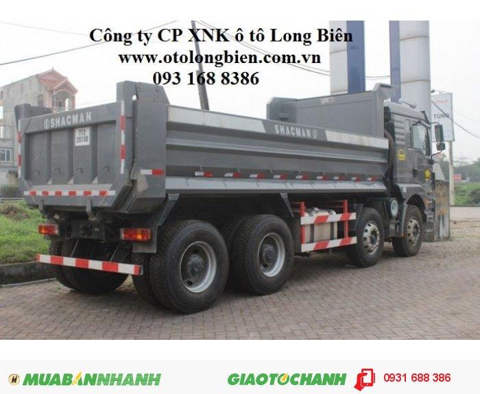 Xe ben 4 chân shacman tải trọng 17 tấn thùng 14m3 tại Hà Nội 2015, 2016