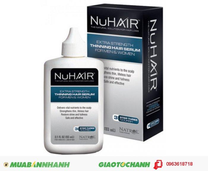 NuHair Thinning Hair Serum được nghiên cứu và sản xuất bởi công ty Dược phẩm Plethico, sản phẩm đã có mặt trên 40 quốc gia trên toàn thế giới. Được chiết xuất từ 100% thảo dược thiên nhiên, NuHair Thinning Hair Serum bổ sung các chất dinh dưỡng tự nhiên giúp giảm rụng tóc và thúc đẩy tăng trưởng giúp mọc tóc và làm trẻ hóa tóc từ sau bên trong ở nam giới và phụ nữ ., 1