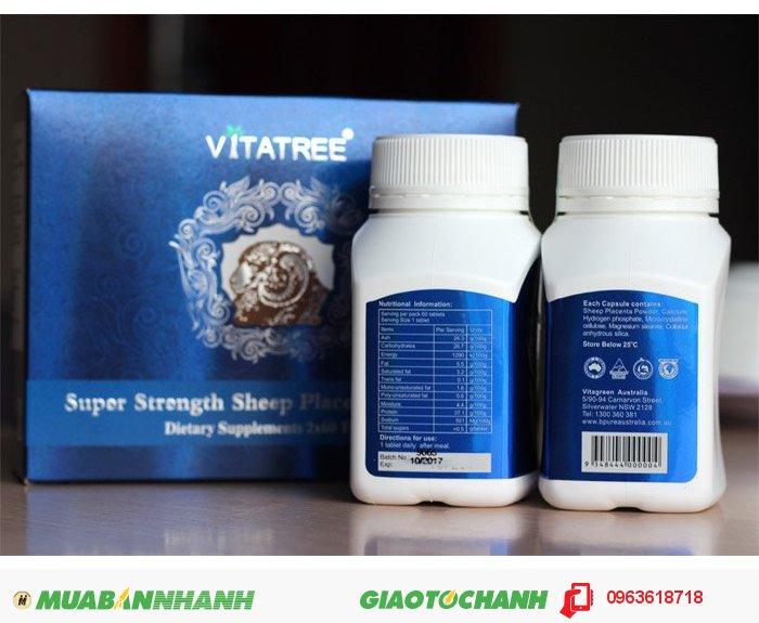 Viên uống nhau thai cừu Vitatree là sản phẩm khắc tinh hàng đầu của các bệnh về nám da, đen da, sạm... Sản phẩm không chỉ giúp làm đẹp da hoàn hảo hơn mà còn mang lại nhiều công dụng hết sức tuyệt vời khác., 1