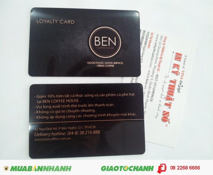 Chúng tôi cung cấp dịch vụ in thẻ nhựa, thẻ Vip,  menu nhựa cao cấp tốt nhất c...