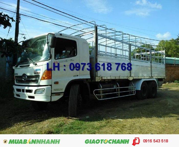 Bán xe tải Hino 3 chân 16 tấn thùng lửng 9m3, giao tận nơi