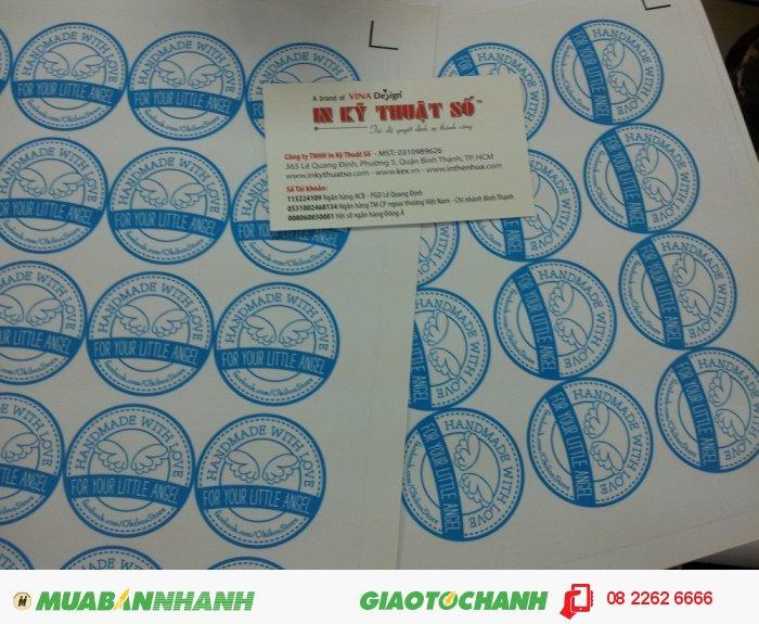 Tem nhãn có mẫu mã không xác định, nên khách hàng có thẻ tùy ý thiết kế theo ý của mình. Thông thường trên tem nhãn sẽ có đầy đủ thông tin về sản phẩm của công ty, đôi khi tem nhãn còn được thiết kế kêt hợp làm tem chống hàng giả..., 2