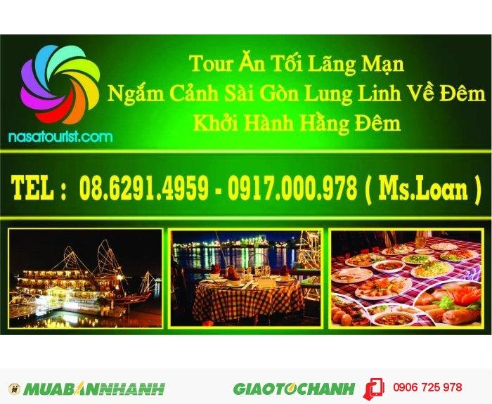 Ăn tối lãng mạn và du ngoạn ngắm Sài Gòn về đêm trên du thuyền 5 sao