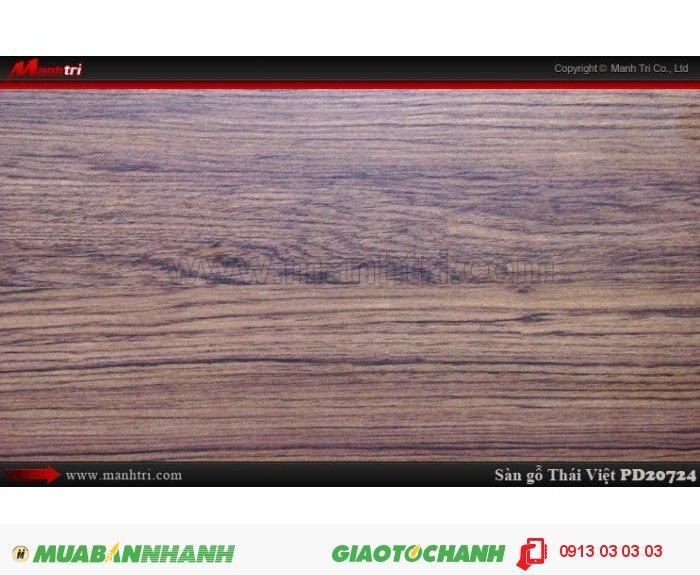 Sàn gỗ công nghiệp Thái Việt PD 20724, dày 8mm, chịu nước, chống trầy, độ bền cao | Quy cách: 1205 x 192 x 8mm | Xuất xứ: Thái Lan | Chống trầy AC4 | Ứng dụng: Thi công lắp đặt làm sàn gỗ nội thất trong nhà, phòng khách, phòng ngủ, phòng ăn, showroom, trung tâm thương mại, shopping, sàn thi đấu. Giá bán: 229.000VND, 1