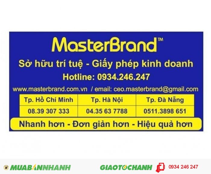 Nếu quý vị có nhu cầu đăng ký nhãn hiệu quốc tế đừng ngần ngại liên hệ tới văn phòng MasterBrand để được tư vấn trực tiếp và hoàn toàn miễn phí, chúng tôi có cung cấp dịch vụ cả ở Hà Nội và Thành phố Hồ Chí Minh, 4