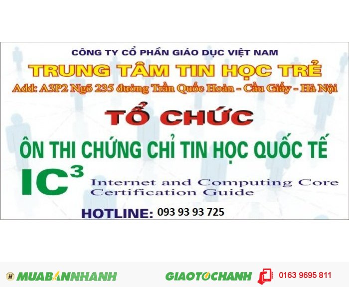 Đào tạo chứng chỉ tin học quốc tế IC3