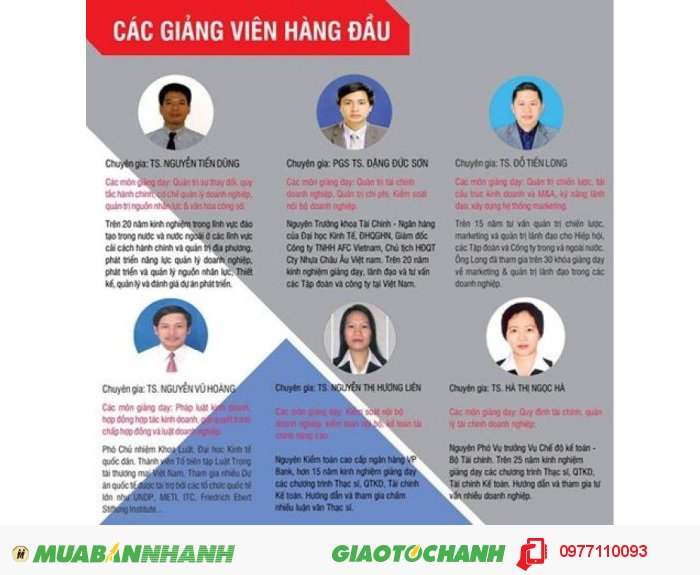 Đào tạo Thạc sĩ Quản trị kinh doanh MBA 2016