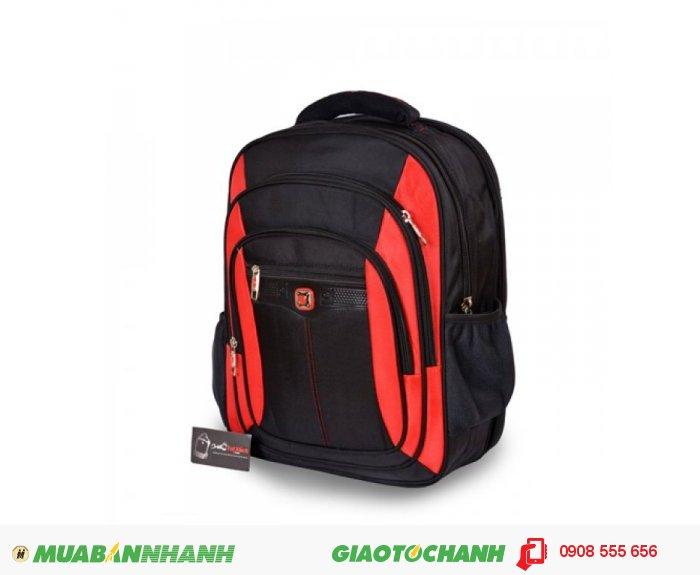 Ba lô laptop BCBLL0715002   Giá: 380,000 VND   Loại: Ba lô laptop   Màu sắc: Đen - đỏ   Chất liệu: Vải bố   Kích thước: 35x45x14   Trọng lượng: 1,1 kg   Mô tả: Ba lô laptop được thiết 2 ngăn rộng, đeo vai thoải mái và chắc chắn khi đeo. Thích hợp cho mọi người trong cuộc sống như : du lịch, công tác, công sở, sinh viên học sinh,..., tiện ích đa năng. Đường may chắc chắn, cẩn thận, bảo vệ tối đa cho chiếc laptop không bị va đập, trầy xước., 5