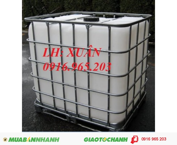 tank nhựa 1000 lít đựng hóa chất0