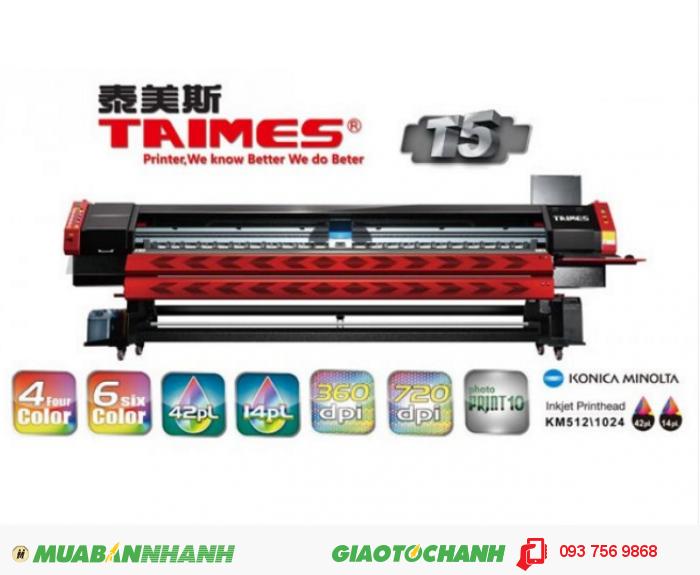 Máy in kỹ thuật số khổ lớn TAIMES T5 | Mô tả: Khổ in: 3200mm (10.5ft). Độ phân g...