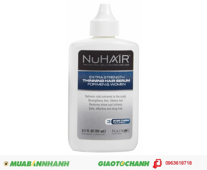 Nuhair là dòng sản phẩm của NATROL thuộc công ty Công ty TNHH Dược phẩm Plethico được thành lập 1980 sản phẩm đã có mặt trên 40 quốc gia trên toàn thế giới. NuHair Thinning Hair Serum với 100% thành phần được chiết xuất từ thảo được thiên nhiên được biết đến là dòng dòng sản phẩm bổ sung các chất dinh dưỡng tự nhiên giúp giảm rụng tóc và thúc đẩy tăng trưởng giúp mọc tóc và làm trẻ hóa tóc từ sau bên trong ở nam giới và phụ nữ ., 1