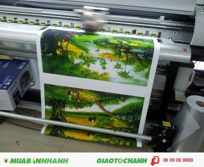 Sở hữu những đặc tính vượt trội cho in tranh trang trí, in khổ lớn, chất liệu canvas cho chất lượng in ấn hoàn hảo cho một bức tranh treo tường. Việc bạn cần làm đó là lựa chọn hình ảnh mà mình ưa thích rồi tiến hành in phun kỹ thuật số trên chất liệu này., 2