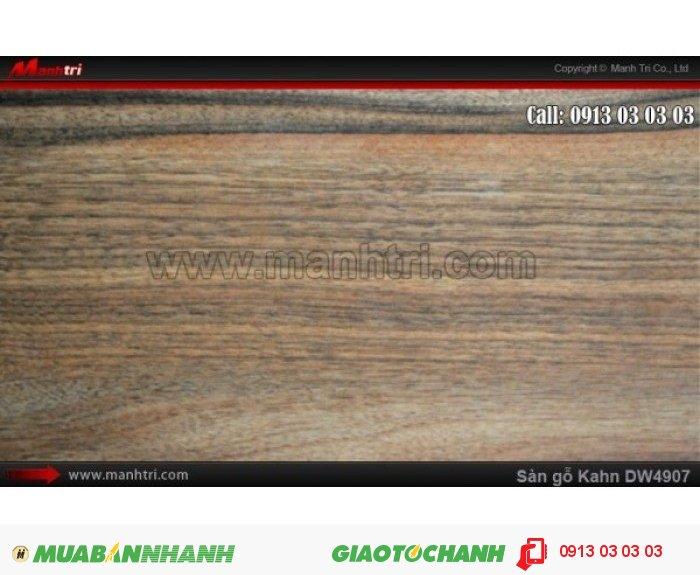 Sàn gỗ công nghiệp Kahn W4907, dày 12.3mm, độ bền cao | Qui cách: 1375 x 188x 12.3mm | Chống trầy: AC5 | Ứng dụng: Thi công lắp đặt làm sàn gỗ nội thất trong nhà, phòng khách, phòng ngủ, phòng ăn, showroom, trung tâm thương mại, shopping, sàn thi đấu. Giá bán: 469.000VND, 2