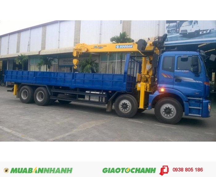 Xe Tải Cẩu Auman C3000B Gác Cẩu Soosan 7 Tấn