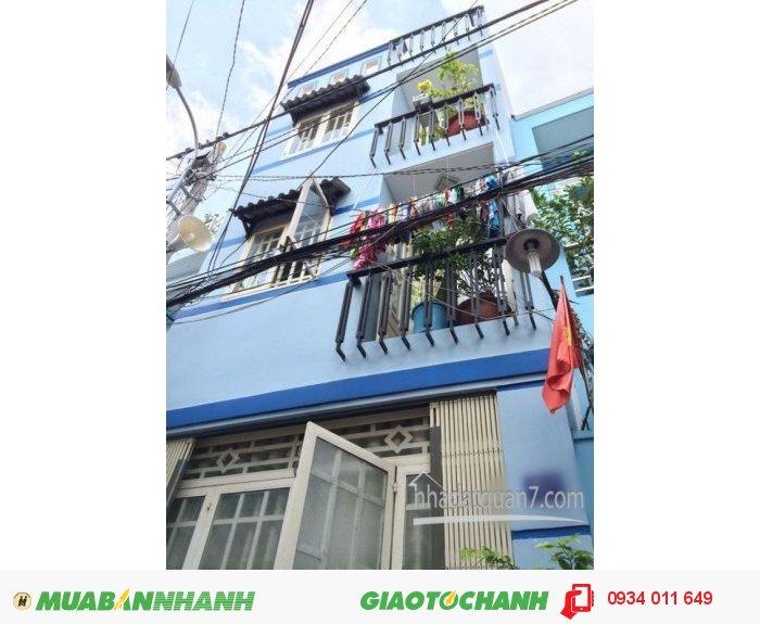 Bán gấp nhà 2 lầu hiện đại hẽm 5m Huỳnh Tấn Phát, F. Tân Thuận Tây, Q7
