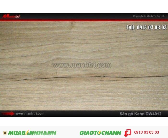 Sàn gỗ công nghiệp Kahn DW4912, dày 12.3mm, độ bền cao | Qui cách: 1375 x 188x 12.3mm | Chống trầy: AC5 | Ứng dụng: Thi công lắp đặt làm sàn gỗ nội thất trong nhà, phòng khách, phòng ngủ, phòng ăn, showroom, trung tâm thương mại, shopping, sàn thi đấu. Giá bán: 469.000VND, 2