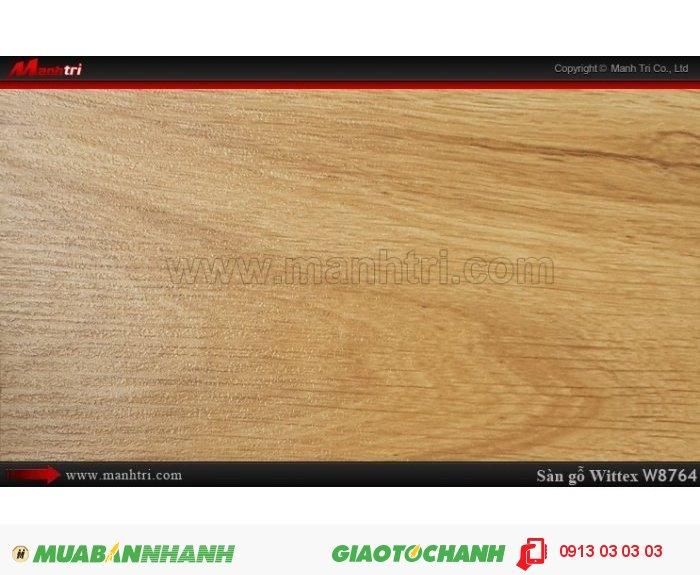 Sàn gỗ công nghiệp Wittex W8764 | Qui cách: 1215 x 165 x 12mm | Ứng dụng: Thi công lắp đặt làm sàn gỗ nội thất trong nhà, phòng khách, phòng ngủ, phòng ăn, showroom, trung tâm thương mại, shopping, sàn thi đấu. Giá bán: 239.000VND, 2