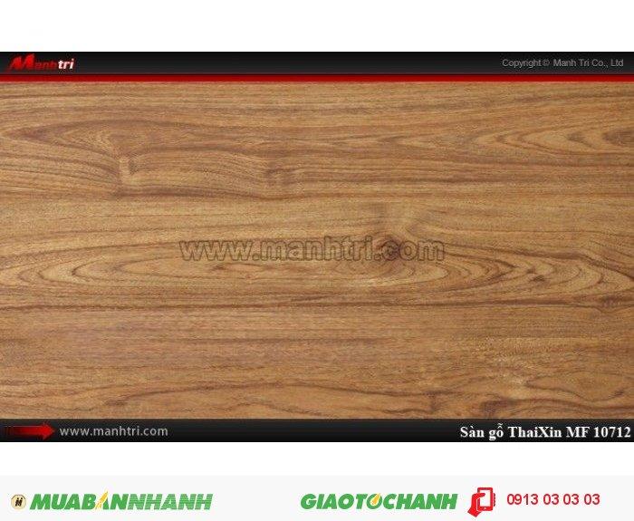 Sàn gỗ công nghiệp Thaixin MF10712, dày 8.3mm, chống cháy chồng trầy, chịu nước | Qui cách: 1205 x 192 x 8,3 mm | Chống trầy: AC4 | Ứng dụng: Thi công lắp đặt làm sàn gỗ nội thất trong nhà, phòng khách, phòng ngủ, phòng ăn, showroom, trung tâm thương mại, shopping, sàn thi đấu. Giá bán: 229.000VND, 1