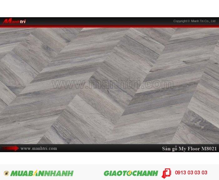 Sàn gỗ công nghiệp My Floor M8021 | Qui cách: 1380 x 193 x 8 mm | Ứng dụng: Thi công lắp đặt làm sàn gỗ nội thất trong nhà, phòng khách, phòng ngủ, phòng ăn, showroom, trung tâm thương mại, shopping, sàn thi đấu.Giá bán: 319.000VND, 4