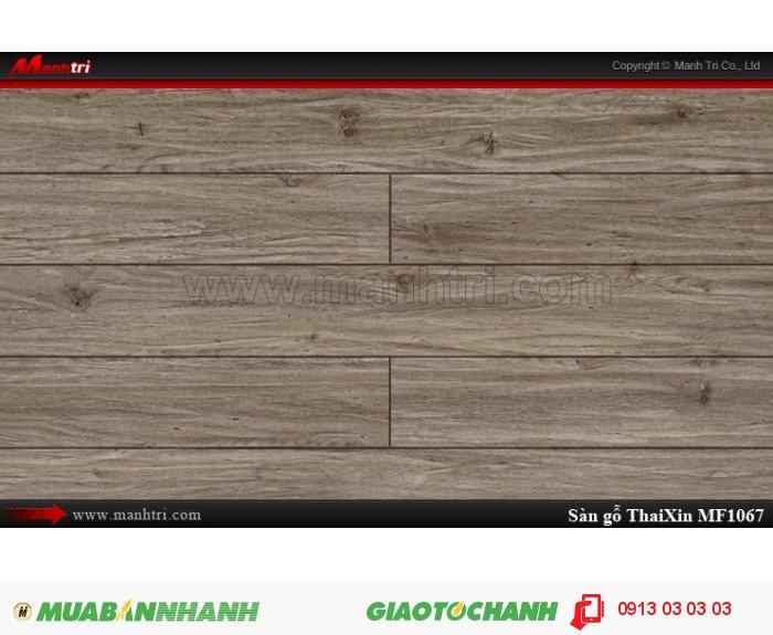 Sàn gỗ công nghiệp Thaixin MF1067 (bản nhỏ), dày 8.3mm, chống cháy chồng trầy, chịu nước | Qui cách: 1205 x 192 x 8.3 mm | Chống trầy: AC4 | Ứng dụng: Thi công lắp đặt làm sàn gỗ nội thất trong nhà, phòng khách, phòng ngủ, phòng ăn, showroom, trung tâm thương mại, shopping, sàn thi đấu. Giá bán: 229.000VND, 5