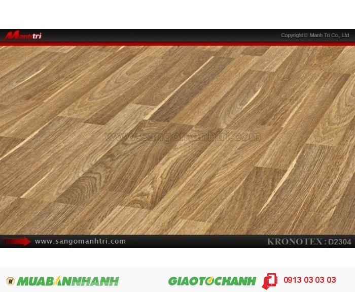 Sàn gỗ công nghiệp Kronotex D2304, dày 8mm | Qui cách: 1380 x 193 x 8mm | Chống trầy: AC4 | Ứng dụng: Thi công lắp đặt làm sàn gỗ nội thất trong nhà, phòng khách, phòng ngủ, phòng ăn, showroom, trung tâm thương mại, shopping, sàn thi đấu. Giá bán: 280.000VND, 1