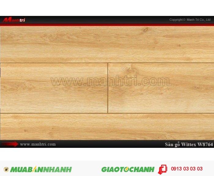 Sàn gỗ công nghiệp Wittex W8764 | Qui cách: 1215 x 165 x 12mm | Ứng dụng: Thi công lắp đặt làm sàn gỗ nội thất trong nhà, phòng khách, phòng ngủ, phòng ăn, showroom, trung tâm thương mại, shopping, sàn thi đấu. Giá bán: 239.000VND, 1