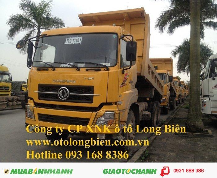 Xe ben 8 tấn, xe ben 3, 4 chân Dongfeng tại Hà Nội 2015, 2016