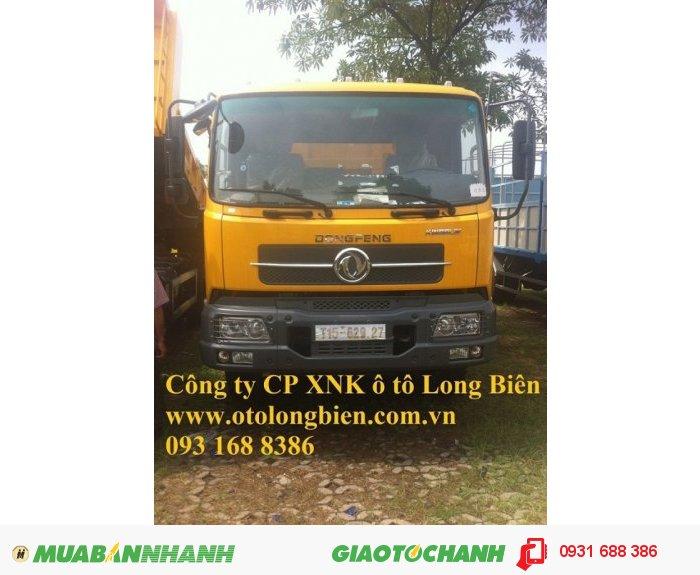 Xe ben 8 tấn Dongfeng Hoàng Huy tại Long Biên, Hà Nội 2015, 2016