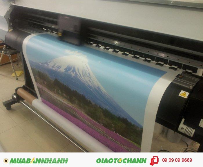 In nhanh canvas trên máy Mimaki mực dầu | Để đáp ứng cho nhu in ấn trang trí, in ấ...