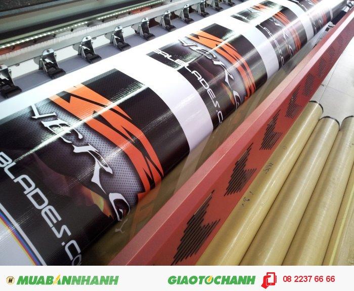 In phông nền khổ lớn giá rẻ chính là ưu điểm lớn nhất của chất liệu hiflex...