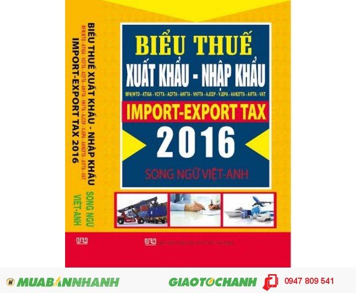 Biểu thuế xuất nhập khẩu song ngữ tiếng Anh 2016, 1