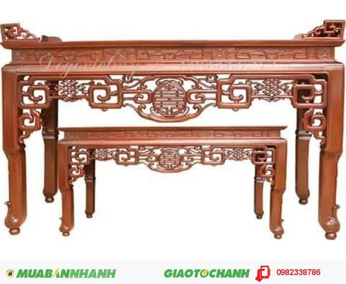 Bộ Minh móc gỗ gụ kích thước 197 x 81x127. Giá 13 triêu. Liên hê: (Phạm Trung Kiên).0