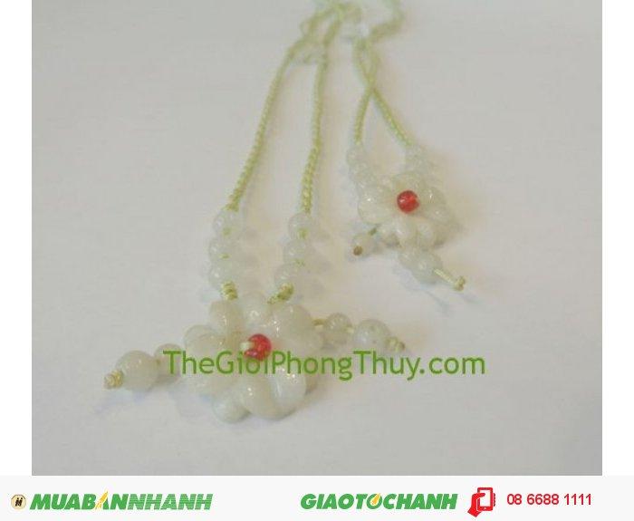 Dây chuyền hoa Mẫu đơn nhỏ 6 hạt Miến Điện (Myanmar) FS502