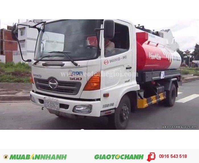 Xe tải Hino FC9JLSW 6.4 Tấn 2015, Hino fc chở xăng