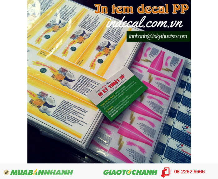 In tem decal PP từ In Kỹ Thuật Số - bạn nhận được tem nhãn giá rẻ, sử dụng n...