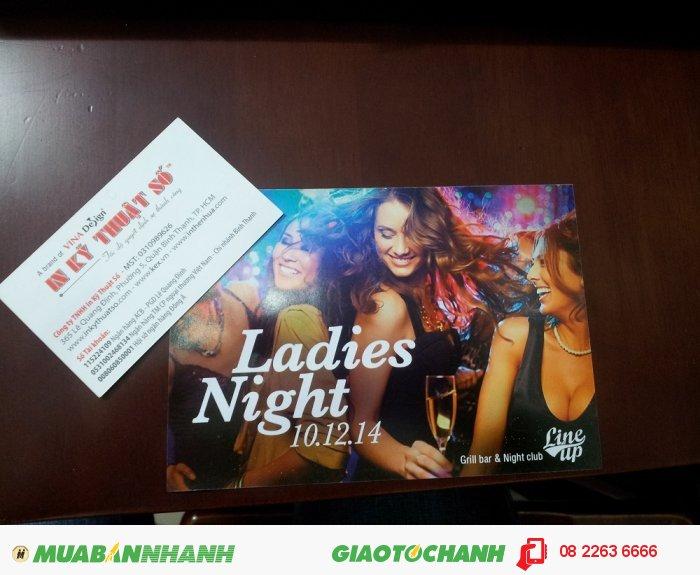 In tờ rơi cho sự kiện Ladies Night - màu sắc trung thực, giữ được hiệu ứng chuyển màu linh hoạt của photoshop (từ file đặt in), 5