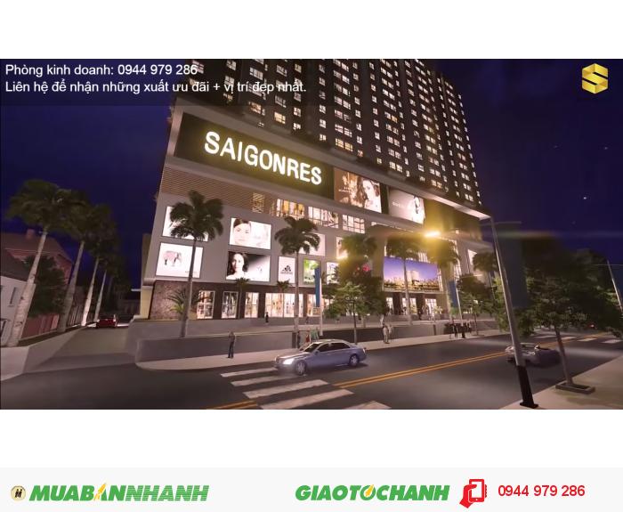 Căn hộ Saigonres Plaza Bình Thạnh, căn 2 phòng ngủ giá 1.59 tỷ