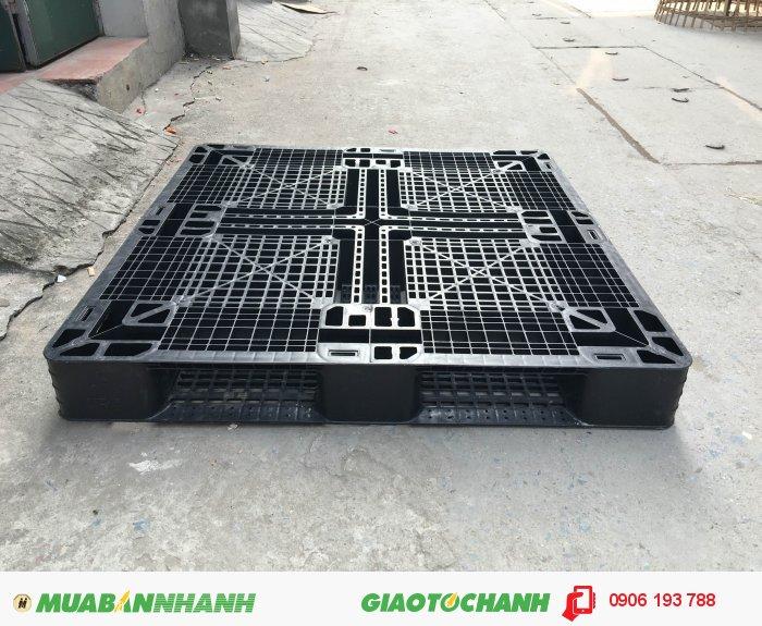 Công ty bán pallet nhựa cũ giá rẻ tại Hà Nội 1000x1000x120 mm