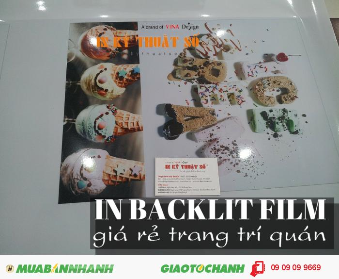 In backlit film trang trí quán kem, quán bánh,... kết hợp với đèn chiếu trở thành m...