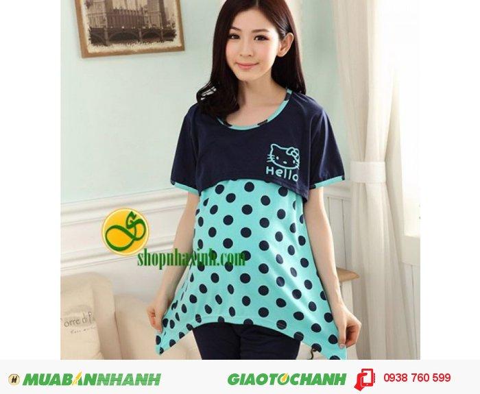Bộ Đồ Bầu Kết Hợp Cho Con Bú Hello Kitty NX1283