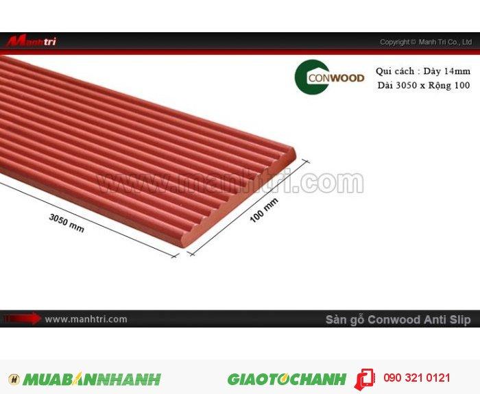 Ưu điểm của CONWOOD: là vật liệu xanh, chịu nước, chống ẩm mốc, chống cháy, chống mối mọt, cách âm, cách nhiệt, không cong vênh0