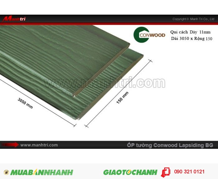 Ốp tường CONWOOD Lapsiding BG2