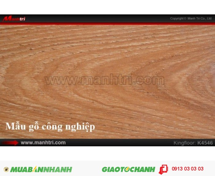 Tên sản phẩm: Sàn gỗ KingFloor K4546 |   Giá bán: 199,000 VNĐ/M2 |   - Giá trên CHỈ bao gồm ván sàn |   - Giá trên CHƯA bao gồm chi phí thi công, phụ kiện, vận chuyển, Thuế VAT 10% |   - Đơn giá thi công sàn gỗ, đóng len tường, nẹp: 29.000đ/m20