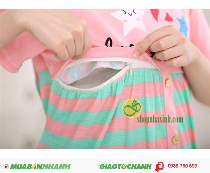 Váy Bầu Kết Hợp Cho Con Bú NX15311