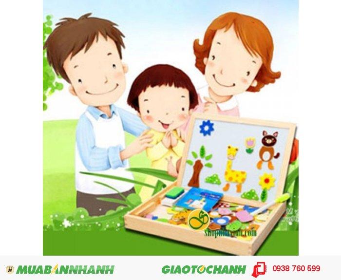 Chơi xếp hình giúp các bé học về hình dạng, màu sắc vừa kích thích tư duy logic. Vì thế hãy lựa chọn Bảng viết nam châm hai mặt kèm bộ ghép hình tại shopnhaxinh.com cho bé yêu nhà bạn những bước khởi đầu tốt nhất nhé!0