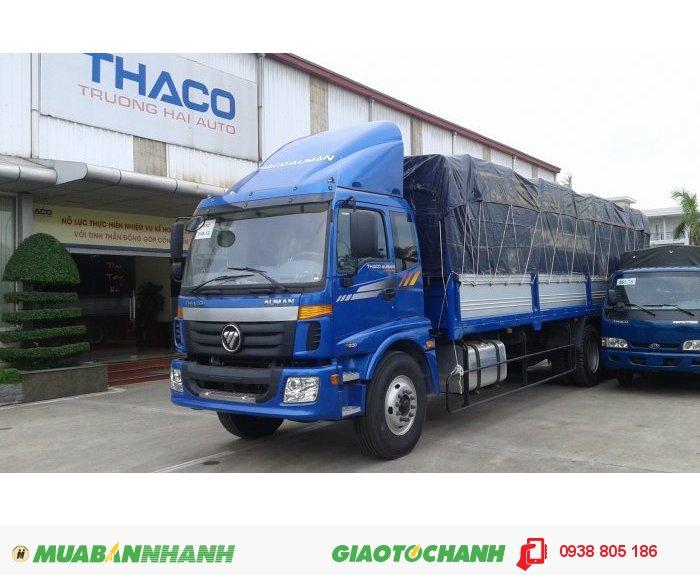 Xe tải Auman 3 chân cầu nâng, tải trọng 15 tấn, thùng mui bạt, xe gác cẩu Unic, Soosan